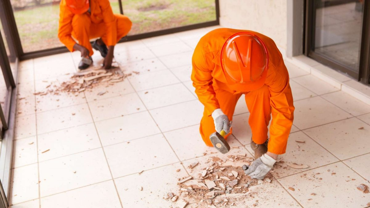 How To Remove Tile From Concrete Floor   2021 DIY Guide